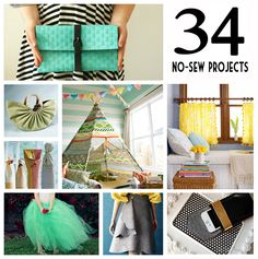 Most Amazing No Sew Projects Round Up  ||  sewingrabbit.com