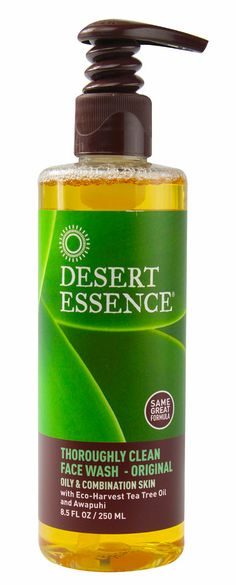 Desert Essence Thoroughly Clean Face Wash - Original withe Eco-harvest Tea Tree Oil and Awapuhi