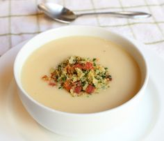 Food Wishes Video Recipes: Cream of Cauliflower – Come for the Soup, Stay for the Bacon Gremolata