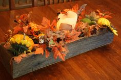 Reclaimed and Recycled Barn Wood 24 inch Long Barn Wood Window Box, Center Piece or Planter for Indoors. $30.00, via Etsy.