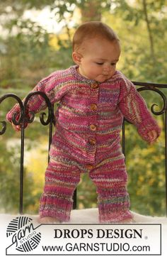 "DROPS Baby 16-4 - DROPS jumpsuit in 2 threads ""Fabel"". - Free pattern by DROPS Design"