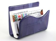 Hey, I found this really awesome Etsy listing at http://www.etsy.com/listing/108861442/business-card-holder-fused-glass-art