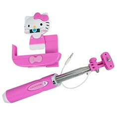 This Hello Kitty selfie stick is great for use when taking pictures with friends or taking pictures over a crowd. This telescopes over 3 feet to ensure you always get the best perspective.