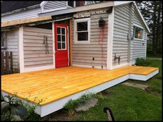 Add similar skirting to our deck and porch.