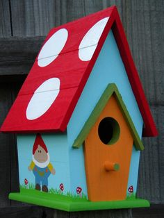 Large Bird House - Garden Gnomes And Mushrooms