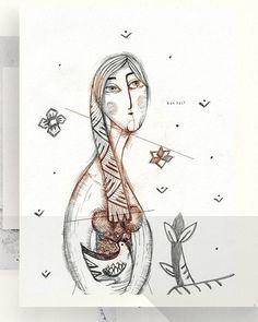 "45 Likes, 1 Comments - Eglė Uleckienė (@egleillustration) on Instagram: ""Daily Sketch Challenge*56-Folk Girl. #illustrationartists #illustration #characterdesign #sketch…"""