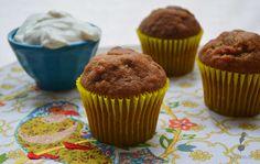 Muffins de zanahoria Breakfast, Desserts, Food, Gastronomia, Sweets, Deserts, Morning Coffee, Tailgate Desserts, Essen