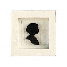 Quadretto in legno bianco shabby con inserto