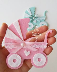 Baby Shower Ideas For Girs Diy Decoration Pink Party Favors 20 Ideas Distintivos Baby Shower, Shower Bebe, Baby Shower Favors, Baby Shawer, Felt Baby, Baby Love, Diy Baby, Girl Baby Shower Decorations, Baby Decor
