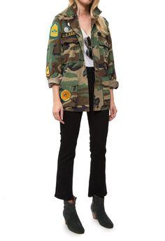 Madeworn Rock-Make Love Not War Camo Jacket