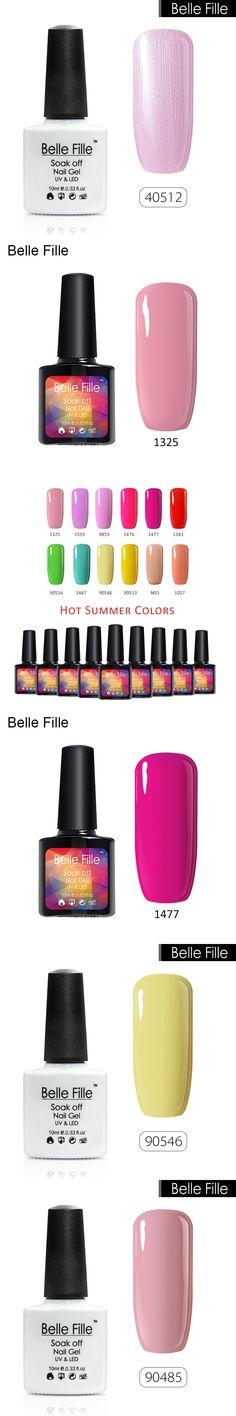 BELLE FELLE Colorful Candy Color Hot Summer Gelpolish UV Gel Nail Polish Soak Off Lacquer Nail Art Nail Gel Polish