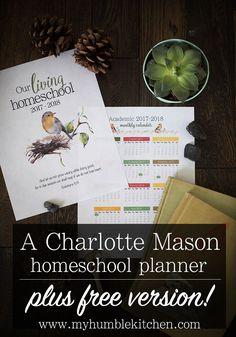 A Charlotte Mason Homeschool Planner PLUS Free Version