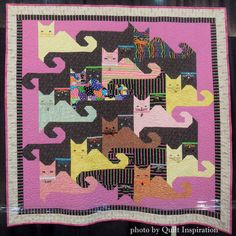 Kitty Memories by Carol Henderson, 2013 Houston IQF, photo by Quilt Inspiration.  Design by Dawn Navarro.  Pattern at http://www.mccallsquilting.com/mccallsquilting/articles/Kitty_Memories