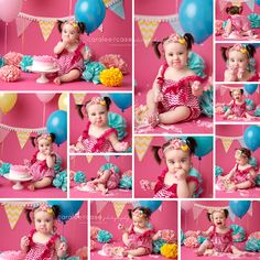All the fun from beginning to end.  www.caraleecasephotography.com  #cakesmash #birthday #caraleecasephotography