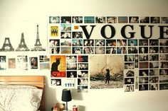 Dorm Room Decor: Ideas for Your Bare Walls. Decorate your dorm room with murals, posters & cool bookshelf and picture ideas this school year. My New Room, My Room, Inspiration Wand, Bedroom Inspiration, Inspiration Boards, Dorm Room Styles, Cute Bedroom Ideas, Trendy Bedroom, Awesome Bedrooms