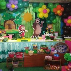 Balloon Decorations Shopping Centre Balloons - Home Art Decor Bear Birthday, 3rd Birthday Parties, Birthday Balloon Decorations, Flower Decorations, Masha And The Bear, Balloon Flowers, Bear Party, Wedding With Kids, Holidays And Events
