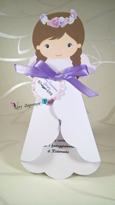 invitation or Baptism angel child - Communion invitation or Baptism angel child Communion invi Diy And Crafts, Crafts For Kids, Arts And Crafts, Recuerdos Primera Comunion Ideas, Christmas Decorations, Christmas Ornaments, Holiday Decor, Communion Invitations, First Communion