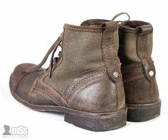 Mens FIRETRAP Brown Leather Suede Winter Hi Top Ankle Chelsea Shoes Boots sz 6