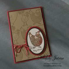 I couldn't resist it! I really enjoyed working this this weeks Global Design Project Colour Challenge so much I had to do another card. This time using Stampin' Up! Sale-A-Bration stamp set Hey, Chick Theme Nature, Stamping Up Cards, Bird Cards, Animal Cards, Paper Cards, Cute Cards, Creative Cards, Greeting Cards Handmade, Scrapbook Cards