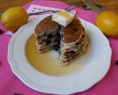 Blueberry Lemon Ricotta Pancakes by Breakfast to Bed
