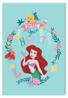 Add some Disney Magic to any room with this Glitter Disney Princess Ariel Motivational Wall Art Canvas Kawaii Disney, Disney Diy, Walt Disney, Disney Stuff, Disney Magic, Disney Princess Snow White, Disney Princess Ariel, Disney Princesses, Disney Paper Dolls