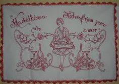 Falvedo: Az ebed keszen var, Kedves ferjem jossz-e mar! Jaba, Embroidery, Punch, Vintage, Home Decor, Needlepoint, Decoration Home, Room Decor, Vintage Comics