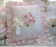 Декор подушка шебби шик