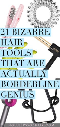 There are some really weird hair tools on the market, and their unconventional design just might be the key to perfect hair. You'll have to see 'em to believe 'em. Weird Hair, Crazy Hair, How To Grow Your Hair Faster, How To Curl Your Hair, Sleek Hairstyles, Ladies Hairstyles, Wedding Hairstyles, Beard Straightening, Best Hair Dryer