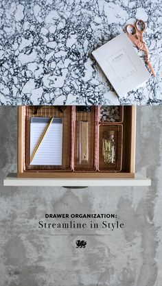 Sometimes it is the single drawers that make us the happiest. Clutter free c. Cambria Quartz Countertops, Kitchen Countertops, Rose Bay, Organization Hacks, Organizing, Clutter Free Home, Declutter Your Life, Black And White Marble, Countertop Materials