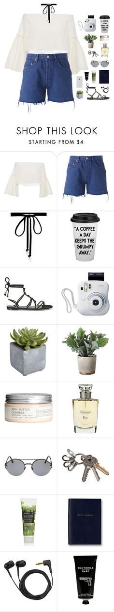 """""""better."""" by ajeungs ❤ liked on Polyvore featuring Rosetta Getty, Levi's, Joomi Lim, Rebecca Minkoff, Fujifilm, Pier 1 Imports, Torre & Tagus, H&M, Christian Dior and Bottega Veneta"""