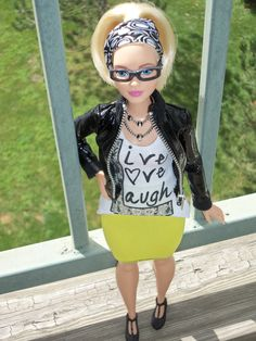 Barbie Fashionista Blonde Curvy Barbie OOAK style by Aneka