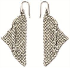 Fit Silver Shade Pierced Earrings - Swarovski