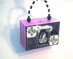 CLEARANCE SALE jewelry box purse art nouveau by BoudicaBags, $25.20