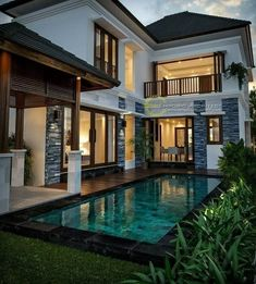 Best Modern Home Architectural Styles and Designs. Find out what style of home you like best.Leave a comment and see what other people like.Most people like several home architectural styles. Architectural Styles, Dream Home Design, Modern House Design, Style At Home, Pool House Decor, Dream House Exterior, House Exterior Design, Door Design, Tropical Houses