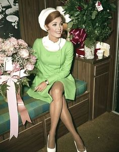 """sharonandromanlove: """" Sharon Tate in her dressing room for The Wrecking Crew. """" - sharonandromanlove: Sharon Tate in her dressing. Charles Manson, Golden Age Of Hollywood, Vintage Hollywood, Sharon Tate Pictures, 1960s Fashion, Vintage Fashion, Joan Bennett, Coat Dress, Most Beautiful Women"""