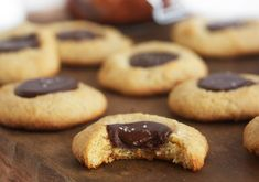45 Festive Cookie Recipes to Kickstart Your Holiday Cheer: Sea Salt Nutella Thumbprint Cookies Paleo Cookie Recipe, Paleo Cookies, Cookie Recipes, Nutella Cookies, Paleo Recipes, Free Recipes, Nutella Recipes, Gluten Free Christmas Cookies, Recipes