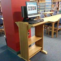 Gorgeous new catalog stations by our own Mr. Mayes @ryan_library #libraries #librariesofinstagram