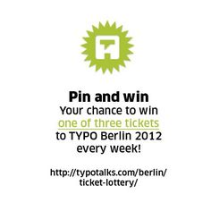 Join the TYPO community an enter the weekly draw :)