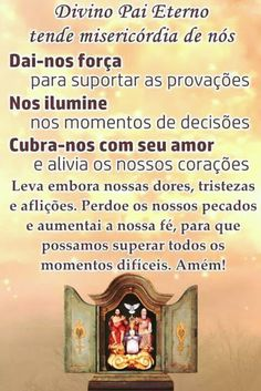campo de luz e de amor: Fé é caminho em Deus Jesus Prayer, Jesus Pictures, Catholic Prayers, Reiki, Karma, Blessed, Faith, Namaste, Smileys