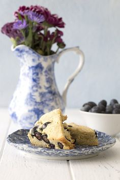 Low carb grain-free scones with blueberries recipe