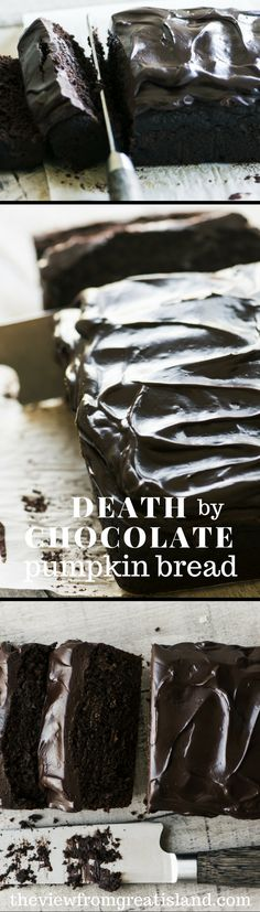 If you love pumpkin, or chocolate, you can't afford to pass up this Death by Chocolate Pumpkin Bread, it's quite decadently delicious, in a fall sort of way!