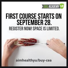 Don't miss your chance to save big on our semester-long cooking course: Intro to Clean Cooking & Nutrition. Use the discount code FOUNDATION50 before midnight on September 22 to get your discount! Class begins on September 28.