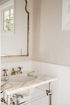 Mirror, washstand