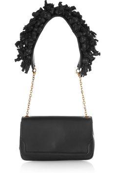 Christian Louboutin Artemis embellished leather shoulder bag    Magnetic snap-fastening flap front. Christian Louboutin Artemis shoulder bag: gold hardware,