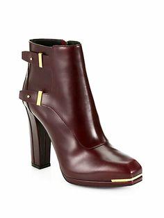 Belstaff - Wembley Leather Platform Ankle Boots - Saks.com
