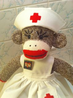 sock monkey nurse