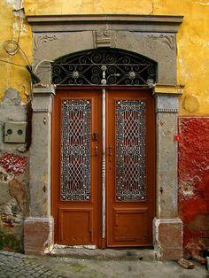 Old door, Bergama (Pergamon), Turkey.