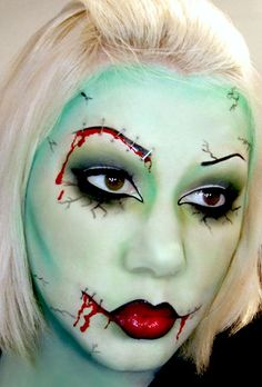 Zombie makeup, DIY Halloween Makeup Ideas