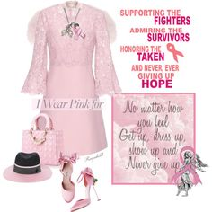 Wear Pink in October Outfit Idea 2017