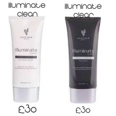 Illuminate Clean and Clear. Cleanse. Moisturize. Refresh. Wash Away. 2 types depending on your skin type. www.youniquebysonya.co.uk